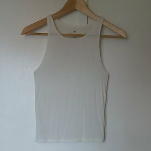 American Eagle Soft & Sexy Tank Top Ivory XS